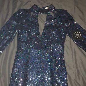 Midi Length Sequin Dress